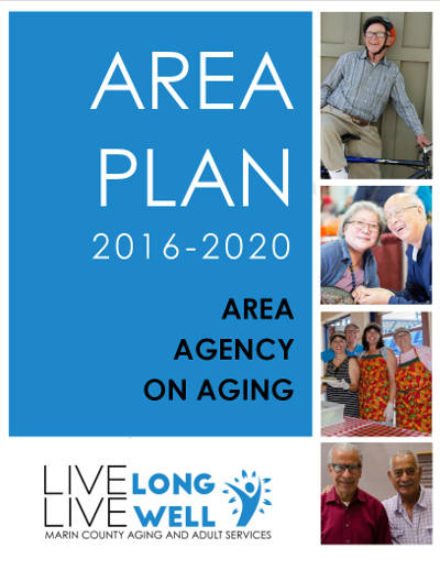 Image of the cover of the 2016-2020 Area Plan on Aging