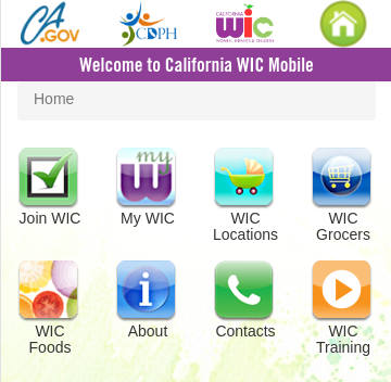 The WIC Mobile website was developed to provide participants with an easy way to access WIC information from their smartphones.
